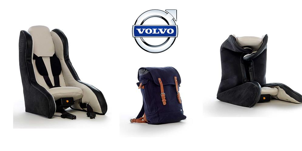 Volvo apresenta cadeira de criança insuflável